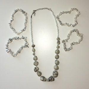 White Rock Necklace/Bracelet Set